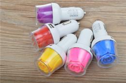 Новый горячий продавать Роза LED автомобильное зарядное устройство универсальный двойной USB автомобиль зарядка адаптер для iphone 6 плюс 5s Samsung S5 Примечание 3 4 таблетки бесплатная доставка от Поставщики защитный кабель для передачи данных