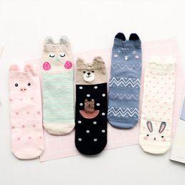 Wholesale Mouth South Korea - Ms. winter socks stealth socks female short shallow mouth lovely school in South Korea wind tube socks in winter