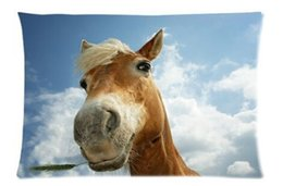 Wholesale Horse Hotels - Horse Cool Pattern Custom Pillowcase Cover Two Side Picture Size 20x30 Inch