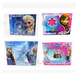 Wholesale Photo Frame Table - Christmas FROZEN Photo Paper Frame Princess Elsa Anna Home Decorate Kids Girl Snow Queen Table Decoration Picture Frames Size 20.5 * 16.8cm
