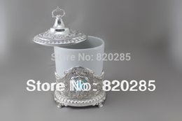 Wholesale Tea Sugar Jars - Wholesale-New arrival big size shiny silver plated coffee tea sugar jars, high quality tableware