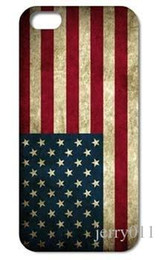 Wholesale Iphone 4s Retro Usa - 1PC Unique Retro USA National Flag hard back cover case for iphone 4 4s 5 5S 5C 6 6plus