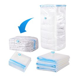Wholesale Large Bag Plastic Package Packaging - Wholesale- Home Use Household Large Space Saver Saving Storage Bag Vacuum Seal Compressed Organizer 5 Size with Retail Package for Bedding