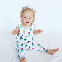 Wholesale Baby Size 3t - Baby Romper 2018 Summer Cotton Newborn Baby Clothes Cactus Printing Sleeveless Romper Jumpsuit Kids Clothing Outfits Baby Girls Boys Clothes