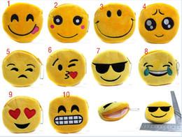 niedliche qualität geldbörsen Rabatt Neue QQ Ausdruck Geldbörsen Nette Emoji Münztüten Plüsch Anhänger Frauen Mädchen Kreative Chirstmas Geschenke Hohe Qualität 11 cm C336