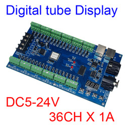 Wholesale Led Rgb Display Modules - 36CH dmx512 Controller,Digital tube display decoder,36 channel 13groups RGB output,DC5V-24V for LED strip light, RGB dump node,LED module