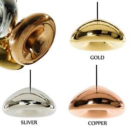 Wholesale Mirror Light Bars - Tom Dixon Void Copper Brass Bowl Mirror Glass Bar Art Modern E27 LED Pendant Lamp Hanging Wire Lighting chandelier Lights