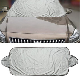 Wholesale Ice Car Cover - 146 x 70cm Car Windscreen Cover Heat Sun Shade Anti Snow Frost Ice Shield Dust Protector Free Shipping