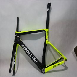 Wholesale Carbon Fiber Bike Frame 56cm - Free shipping 2018 Frameset Fork+ Seatpost+ Clamp+ Headset Full Carbon Fiber T1000 Road Bike Frame with Logo Cipollini RB1K carbon frame set