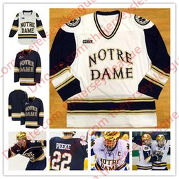 373bb3e83 Notre Dame Fighting Irish Custom College Hockey #18 Jake Evans 32 Cale  Morris White Navy Any Name Number Big Ten Stitched Jerseys S-3XL