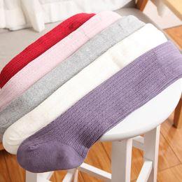 Wholesale Wholesale Wool Baby Tights - children pantyhose autumn winter girls cotton footies baby tight leggings kids bottoming pants Warm knit Leggings 1~4years