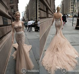 Wholesale Elie Saab Wedding Mermaid Dress - 2016 Elie Saab Memaird Wedding Dresses Cheap Appliques Sequins Tulle Sweetheart Party Pageant Dress Chapel Train Princess Bridal Gowns
