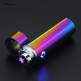 Wholesale Usb Lighter Designs - Newest In Market Super Design Creative Triple arc Pulse Ignition Powerful Rechargeable Flamaless USB Arc Lighter