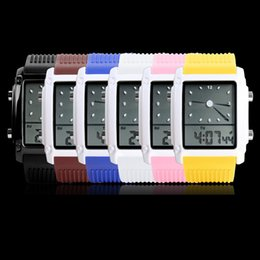 Wholesale Digital Silicone Watch Stone - New Fashion Cool Flash LED Digital Watch Innovative Car Meter Air Race Sports Dial Led Electronic Binary Watches for men Waterproof