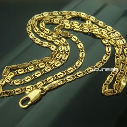 2019 роскошное золото заполнить ожерелье 18k желтое золото заполненные женщины ожерелье глаз цепи ювелирные изделия роскошь N290 скидка роскошное золото заполнить ожерелье
