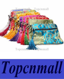 Wholesale Silk Chinese Jewelry Roll Pouch - Free shipping Jewelry Bags Chinese Vintage Embroidered Silk Jewelry Rolls Pouch Gift Bags storage bag Mixed Colors TPML-0468