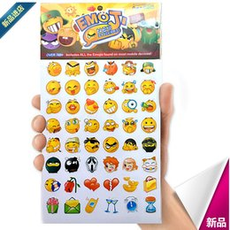 Wholesale Decals For Tablets - 912 Die Emoji Sticker Mural Rooms Wall Decal Sticker Home Decor Mobile Phone Pad Tablet Facebook Twitter Instagram 190pcs lot