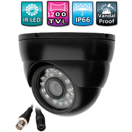 Wholesale Cctv Ir Infrared Led Board - Free shipping IR-CUT 1200TVL 6mm CCTV Camera Dome Outdoor Waterproof LED Night Vision Surveillance Security Colour Infrared Cam