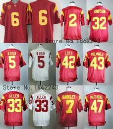 Wholesale 32 Shorts - Factory Outlet- USC Trojans College Football Jerseys 43 Troy Polamalu 6 Cody Kessler 2 Robert Woods 32 OJ Simpson 7 Matt Barkley 33 Marcus A