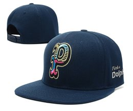 Wholesale snapbacks dolphins - New Arrival 2016 New Pink Dolphin Snapbacks Caps Baseball Cap Adjustable Unisex Hip Hop Caps Top Quality street hats Black caps hot selling
