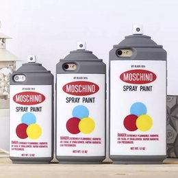 Wholesale Spray Paint Can Wholesale - whosale 3D cute silicone spray paint can bottle back case cover air freshener can cover for iphone5 5S 6 6S 6plus 2015 new type