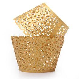 60pcs Filigree Vine Cake papier s Cas papier Décorations d'anniversaire de mariage Or / bleu / gris / rose / blanc ? partir de fabricateur