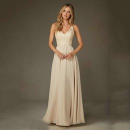 Wholesale Silk Chiffon Floor Length Bridesmaid - Evening Dresses 2016 Special Designer Floor-Length Tank Arrival Chiffon Sleeveless Bridesmaid Gowns