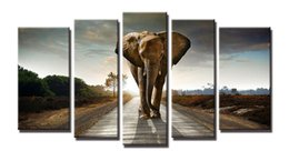 Wholesale elephant canvas painting - YIJIAHE Painting Modern Wall Art,elephant Picture Print on Canvas,Contemporary Framed Artwork for Living Room Bedroom Decoration