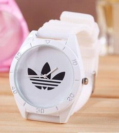 Wholesale ad pin - Brand silicone Clocks Female Males Sports Casual Wristwatch AD Clover Ladies Dress Quartz Watches