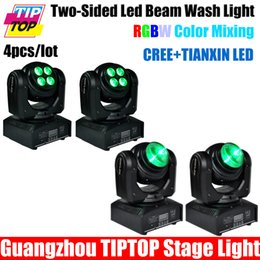 Wholesale Moving Faces - Wholesale-Freeshipping 4pcs lot Unique Design Double Side Led Moving Head Light 4*10W RGBW 4in1 Wash Face+1*10W RGBW 4in1 Face Cree Led