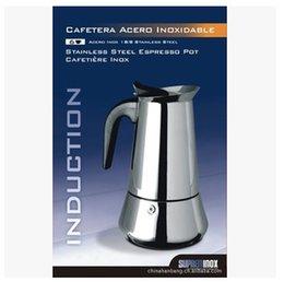 Wholesale Moka Coffee - 2 4 6 9 12 Cups 100ml 200ml 300ml 450ml  650ml Stainless Steel Moka Espresso Latte Percolator Stove Top Coffee Maker Pot