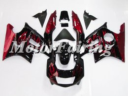 Wholesale Cbr F3 For Sale - Cheap Fairing CBR600F3 1997 1998 Bodywork Body Kits F3 97-98 Red Flame Black Motorcycle Fairing Kits CBR 600 injection molding For Sale