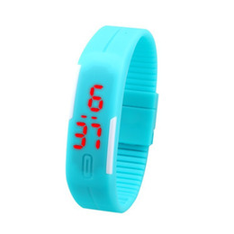 Wholesale Silicone Jelly Belts - Utop2012 Waterproof Soft Led Watch Jelly Candy Silicone Rubber Digital Screen Bracelet Watches Men Women Unisex Sports Wristwatch Free DHL