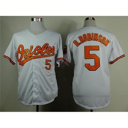 Wholesale Cheap Baseball Uniform - White Orioles Baseball Jerseys Cheap #5 Brooks Robinson Jersey Brand Sports Jerseys 2015 Newest Baseball Shirts Mens Uniforms for Sale