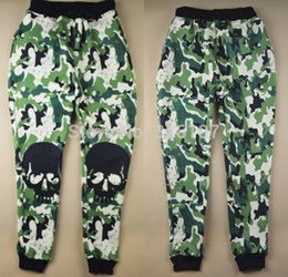 Wholesale Camouflage Sweatpants Women - Wholesale-2015 Fashion new men women camouflage joggers pants 3D print skull running sports sweatpants long hip hop rock jogging trousers
