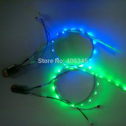 Wholesale Led Strip Stage - Wholesale-LED Shoe Strip Lights USB Charging 3V SMD 3528 RGB 60CM 24led LED Strip For DIY Stage Shoes LED Shoe Light