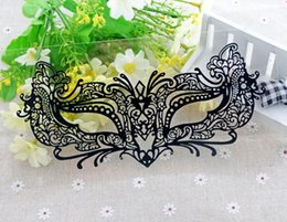 Wholesale Ball Artistic - Wholesale-Artistic charm black sexy eye mask Lace Face ball gown masquerade face mask sticker false eyelashes.18.22543-15.Free shipping
