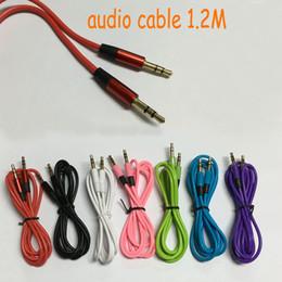 2019 cable usota toyota 1.2M / 4FT 3.5 mm Jack macho a macho Cable de extensión auxiliar audio estéreo del coche para iPhone Samsung