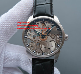 Wholesale Skeleton Transparent Watch - Luxury Top Quality Watch 43mm x12mm T070.405.16.411.00 Skeleton Transparent Swiss ETA 6497 Movement Mechanical Hand-winding Mens Watches