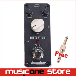 Wholesale Pedal Jack - MINI Distortion Effect Pedal Aroma ADT-3 Distortion AC DC Adapter Jack True bypass guitar Level Tone Gain Knob Pedal Switch MU0238