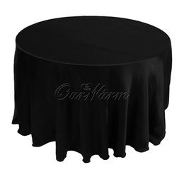 Wholesale Free by DHL large size Tablecloth Table Cover White Black Round Satin for Banquet Wedding Party Decoration Supply quot CTH