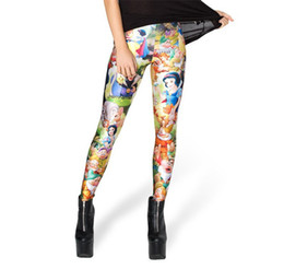 Wholesale Hot Sexy Leggins Galaxy - Wholesale-HOT Sale Sexy Fashion 2015 Pirate Leggins Galaxy Pants Digital Print SNOW WHITE LEGGINGS For Women Pants
