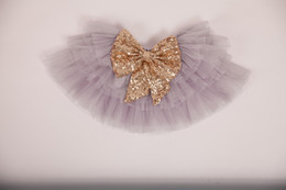Wholesale Kids Beige Skirt - Hot 2016 Baby Girls Lace tutu Skirts Kids Girl Summer Sequins Bow Dress Babies Cake Princess Dress Children's Wholesale Clothing