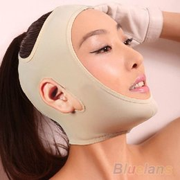 Wholesale Cheeks Face Lift - Women Wrinkle V Face Chin Cheek Lift Up Slimming Slim Mask Ultra-thin Belt Strap Band 09B5
