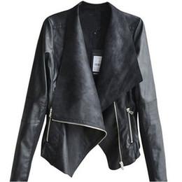 Wholesale Leather Sexy Jackets Coats Women - Autumn Winter Fashion 2015 Sexy Women Long Sleeve Coat Soft PU Leather Coats Casual Zipper Biker Outerwear Jacket Plus Size