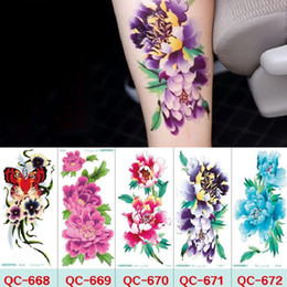 Wholesale Leg Painting - 21*10cm Temporary fake tattoos Waterproof tattoo stickers body art Painting for party decoration etc mixed flower rose plum blossom