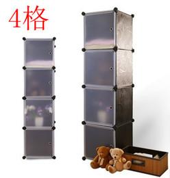 Wholesale Diy Plastic Simple Wardrobe - Diy toy storage cabinet baby wardrobe simple 4 shelf