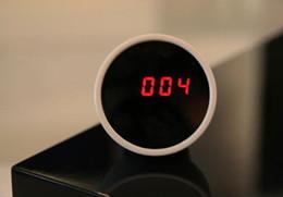 Wholesale Circular Color Clock - 10pcs high tech beauty mirror with clock, alarm,magic mirror with LED digital clock and alarm, 3 in 1: mirror,alarm,clock, freeshipping