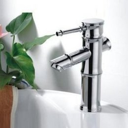 Wholesale Single Sink Cabinet - bathroom cabinet basin sink mixer tap wash basin faucet, bamboo faucet