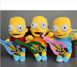 Wholesale Bart Simpson Plush - New The Simpsons Bart Simpson Plush Doll Soft Stuffed Toy 24cm 9.5'' Christmas Gift 5 sets